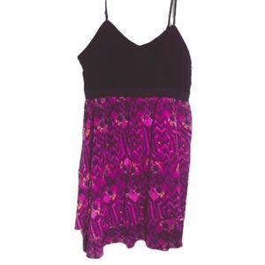 ELLE Purple/Black Layered Bustier Dress Size Large